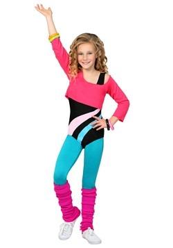 Disfraz de entrenamiento de los años 80 para niña