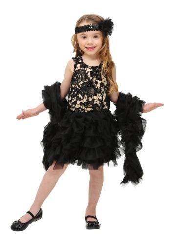 Disfraz de Flapper deslumbrante para niños pequeños