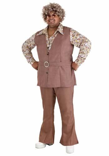 Disfraz chaleco de los 70 talla extra para hombre