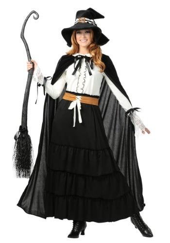 Disfraz de Bruja de Salem para mujer talla extra
