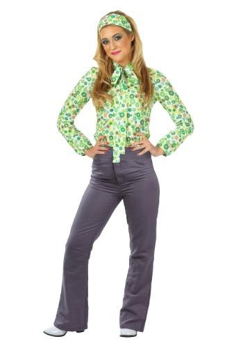 Disfraz chica hippie talla extra