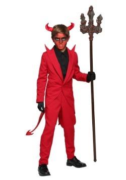 Traje de diablo de traje rojo infantil