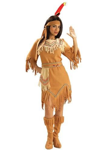 Disfraz de doncella indígena estadounidense