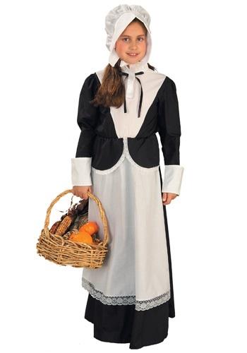 Disfraz de peregrino para niñas