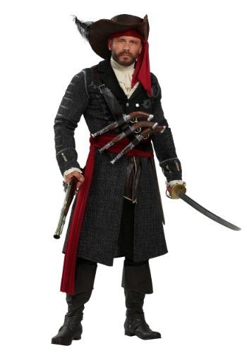 Disfraz de hombre talla grande de Blackbeard