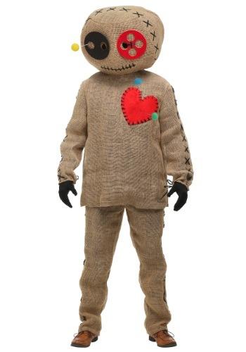 Disfraz de muñeca vudú de yute para adulto