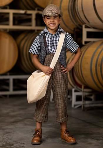 Disfraz de repartidor de los años 20 para niño