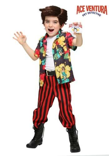 Disfraz de Ace Ventura para niño pequeño con peluca