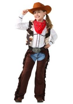 Disfraz infantil de vaquera con chaparreras