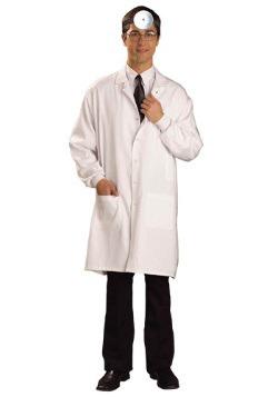 Bata de laboratorio blanca de doctor