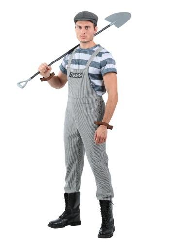Disfraz de prisionero para hombre Chain Gang talla extra