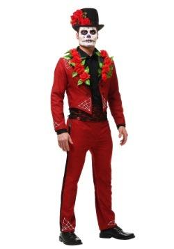 Disfraz del Día de los Muertos talla extra para hombre