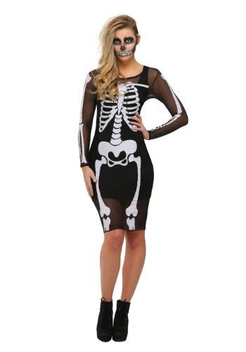 Vestido de malla de esqueleto talla extra