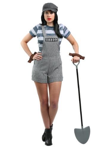 Disfraz de prisionero de pandilla para mujer