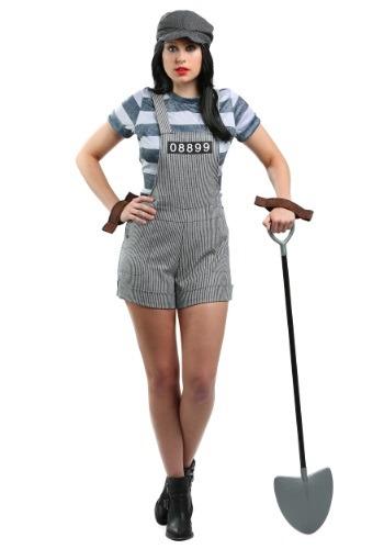 Disfraz de prisionero de pandilla para mujer talla extra