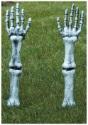 Estacas de jardín con brazo de esqueleto