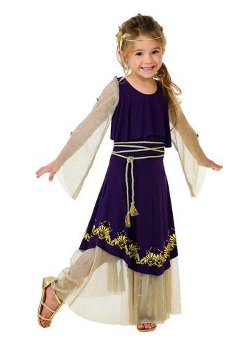 Disfraz de la diosa Afrodita para niños pequeños