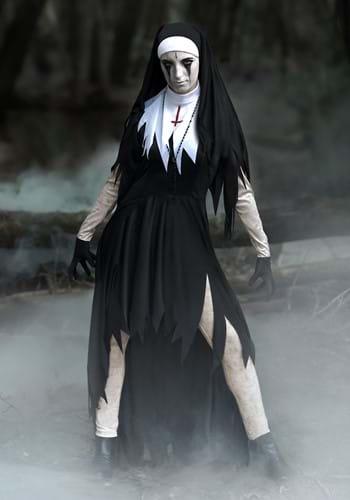 Disfraz de monja terrible para mujer