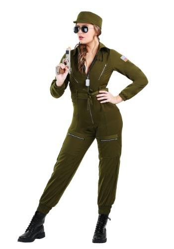 Traje del traje del ejército de las mujeres de talla grande