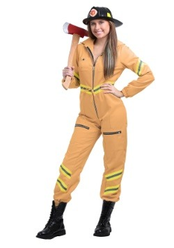 Mono bombero marrón mujer
