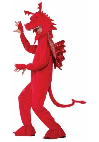 Disfraz de dragón rojo para adulto