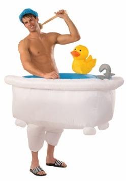Disfraz inflable de hombre en la bañera para adulto
