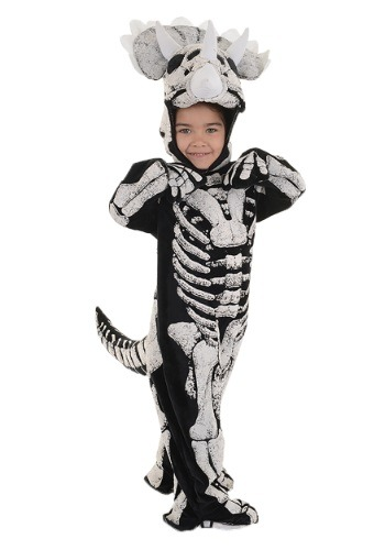 Disfraz de fósil de triceratops para niños