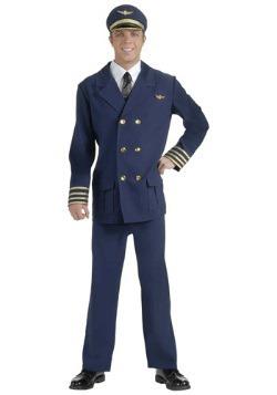 Disfraz de piloto de aerolínea para adulto