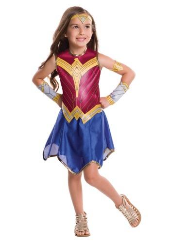 Disfraz infantil de Mujer Maravilla El origen de la justicia