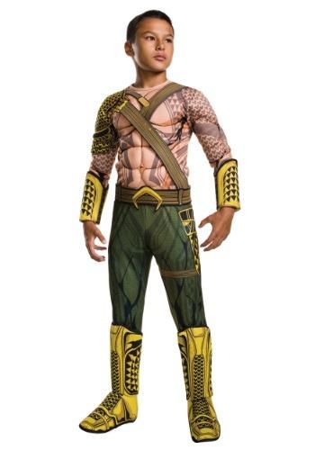 Disfraz de Aquaman de El origen de la justicia infantil