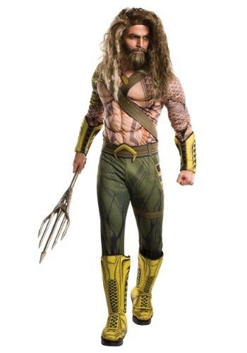 Disfraz de lujo Aquaman de El origen de la justicia adulto