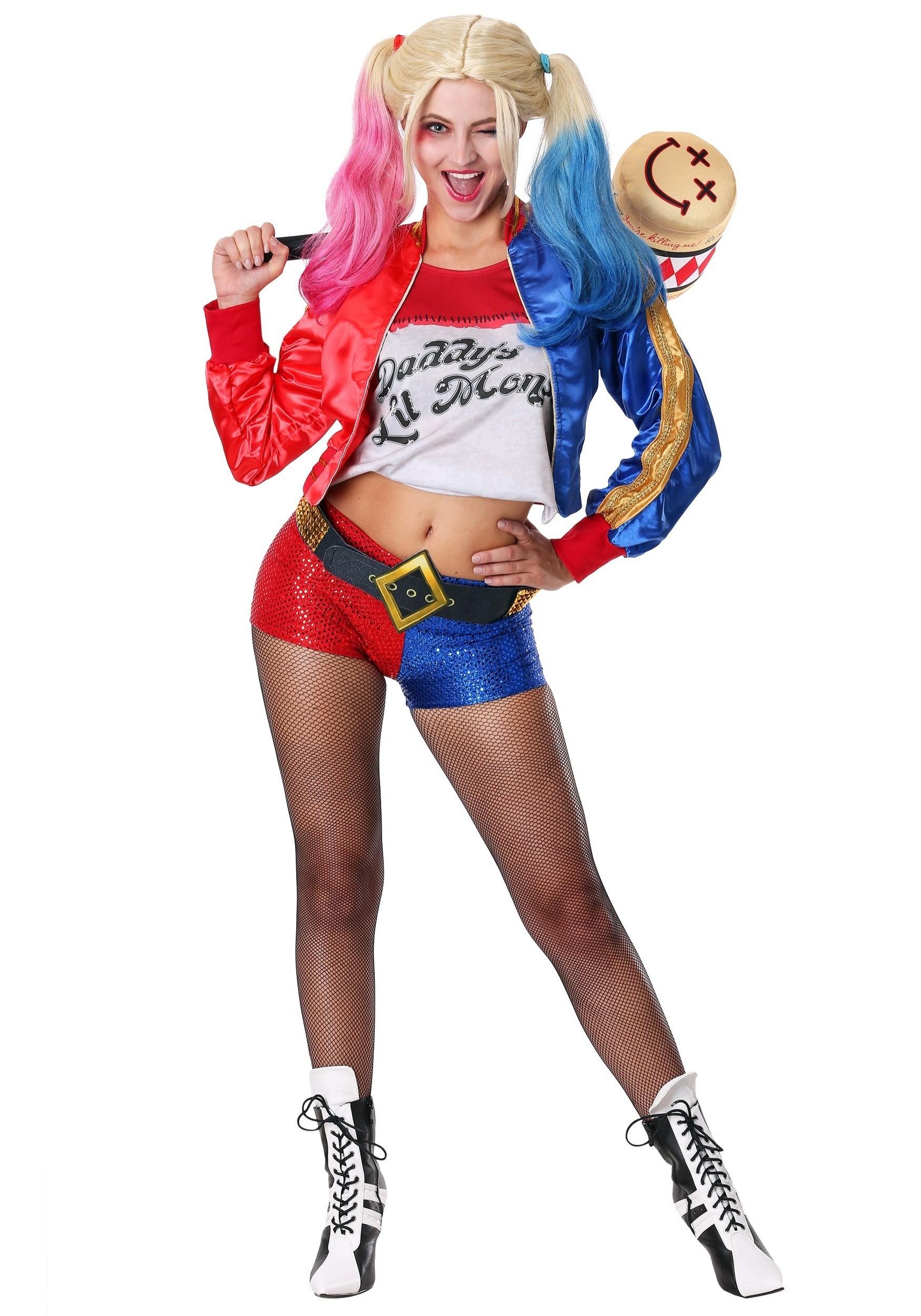 03625bc11 Disfraz de Harley Quinn del Escuadrón Suicida deluxe