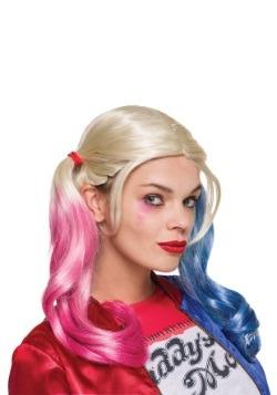 Peluca de Harley Quinn para adulto de Suicide Squad