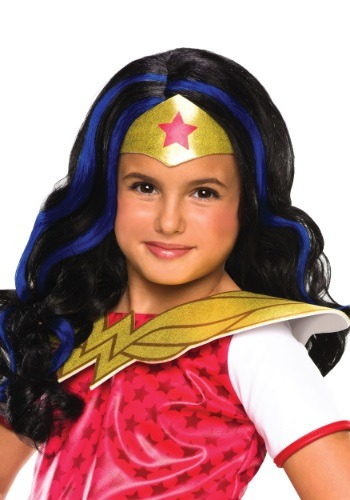 Peluca de la Mujer Maravilla de DC Superhero Girls
