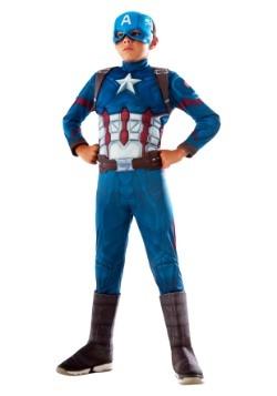 Disfraz de Capitán América para niños de lujo