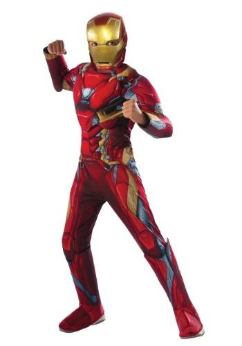 Disfraz de Iron Man de Civil War para niño deluxe