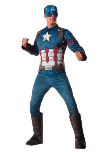 Disfraz de Capitán América de la Guerra Civil Deluxe para ho