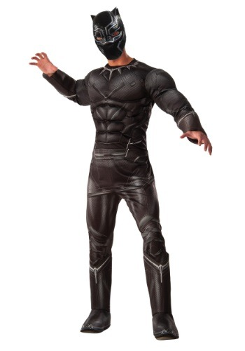 Disfraz de Black Panther Deluxe Civil War para hombre