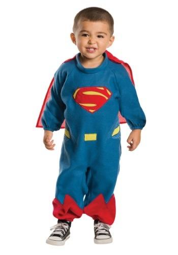 Romper de Superman de forro polar para niños pequeños