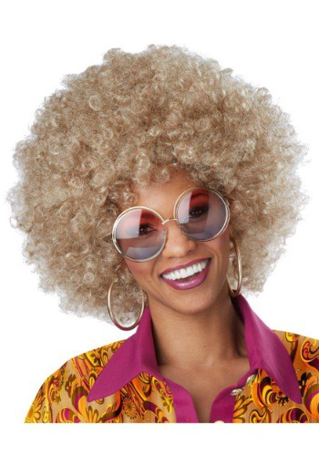 Peluca afro rubia sucia