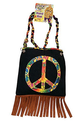 Cartera con símbolo de paz