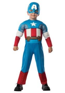 Disfraz de Capitán América deluxe para niños pequeños