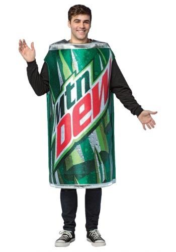 Disfraz de lata de Mountain Dew