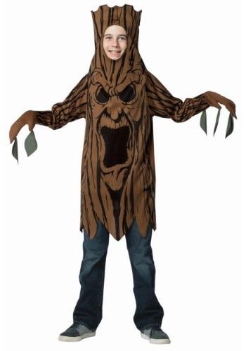 Disfraz infantil de árbol de miedo