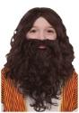 Juego de peluca y barba bíblica infantil