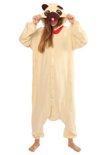 Disfraz de Kigurumi de Pug adulto