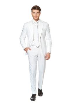 Traje caballero blanco de los hombres