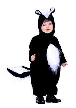 Disfraz de zorrillo para niños pequeños