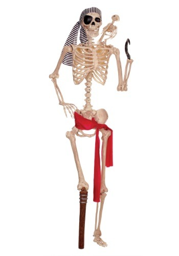 Esqueleto de pirata de tamaño natural