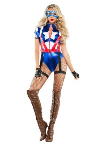 Disfraz de Capitán de los EE.UU. para mujer